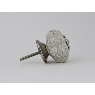White Crackle Ceramic Knobs
