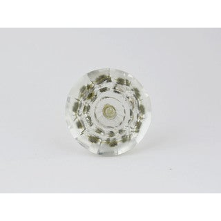 Clear Glass Knobs (Set of 2)