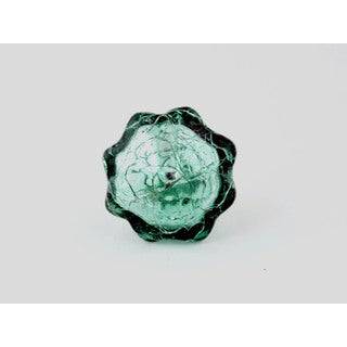 Mercury Turquoise Glass Cabinet Knobs Set