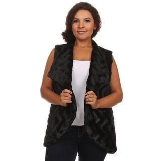 Hadari Women's Plus Size Sleeveless Cardigan