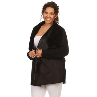 Hadari Women's Plus Size Long Sleeve Cardigan