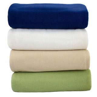 Polyester Fleece Reversible Sheet-Style Blanket