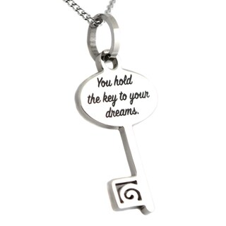 Stainless Steel Key To Your Dreams Pendant