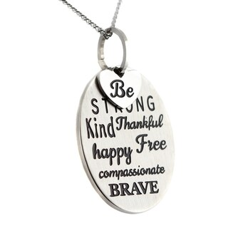 Be Strong Kind Thankful Happy 2-Piece Inspirational Pendant