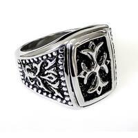 Men's Stainless Steel Gothic Cross Ring