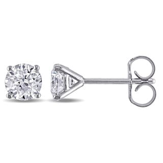 Miadora Signature Collection 14k White Gold 7/8ct TDW Diamond Stud Earrings