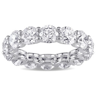 Miadora Signature Collection 18k White Gold 6 1/2ct TDW Certified Diamond Eternity Ring