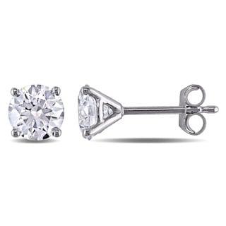 Miadora Signature Collection 14k White Gold 1 1/6ct TDW Diamond Stud Earrings