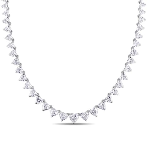 Miadora 14k White Gold 10 1/2ct TDW Diamond Necklace
