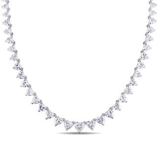 Miadora 14k White Gold 10 1/2ct TDW Diamond Necklace (G-H, I1-I2) (IGL)