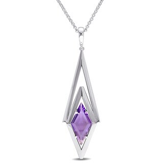 V1969 ITALIA Amethyst Prism Necklace in Sterling Silver
