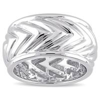 V1969 ITALIA Men's Zig Zag Ring in Sterling Silver