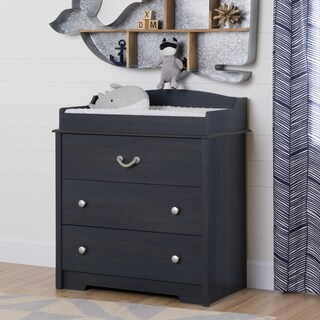 South Shore Aviron Changing Table with Drawers (Option: bluberry)
