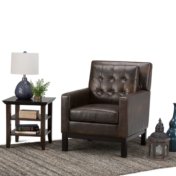 Shop Wyndenhall Cassidy Distressed Brown Bonded Leather