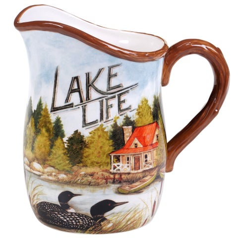 Certified International 'Lake Life' Ceramic 88-ounce Pitcher