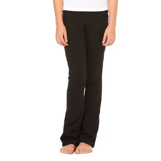 Cotton/Sportandex Girl's Dance Pant Black