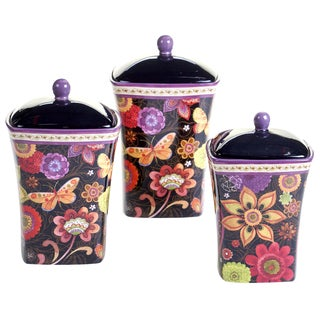 Certified International Coloratura Ceramic 3-piece Canister Set
