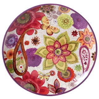 Certified International Coloratura Multicolored Ceramic 15-inch Round Platter