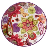 Certified International Coloratura Multicolored Ceramic 15-inch Round Platter