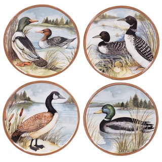 Certified International Lake Life Assorted Design 8.5-inch Salad/ Dessert Plates (Pack of 4)