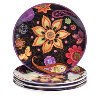 Certified International Coloratura Assorted Design 11-inch Ceramic Dinner Plates (Pack of 4)