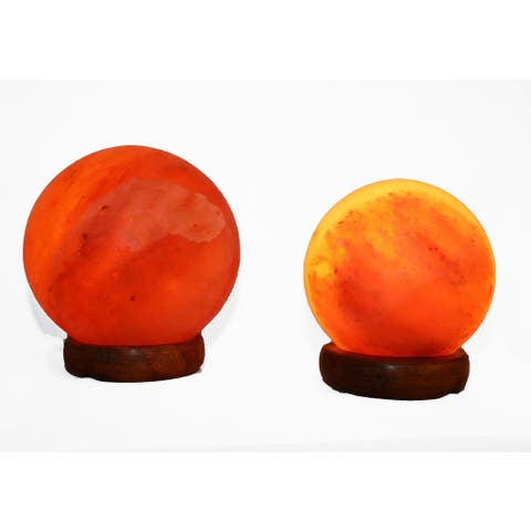 Accentuations by Manhattan Comfort Sphere-shaped Dimmable Himalayan Salt Lamps (Set of 2)