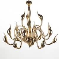 Hans Andersen Home Rise Goldtone Metal Pendant Light