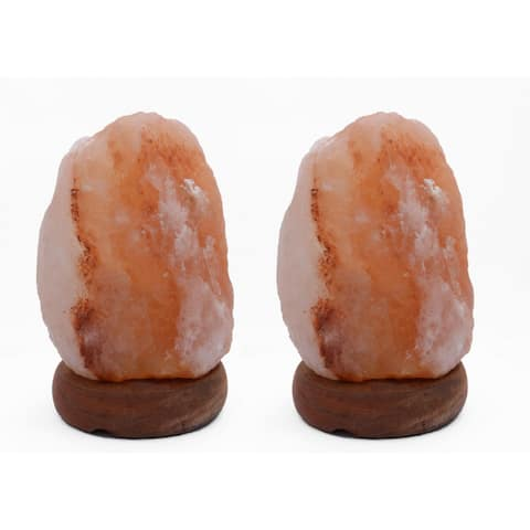Accentuations by Manhattan Comfort 8-inch Natural Shaped Himalayan Salt Lamp (Set of 2)