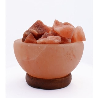 Accentuations by Manhattan Comfort Himalayan Salt Lamp Fire Bowl With Loose Natural Rocks