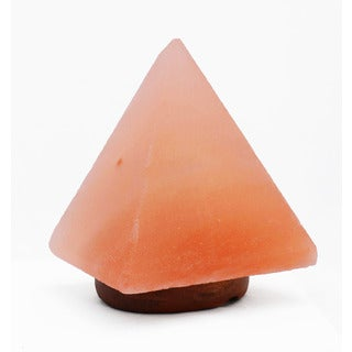 Accentuations by Manhattan Comfort 9-inch Pyramid-shaped Himalayan Salt Lamp With Dimmer