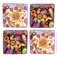 Certified International Coloratura 6-inch Canape Plates (Set of 4)
