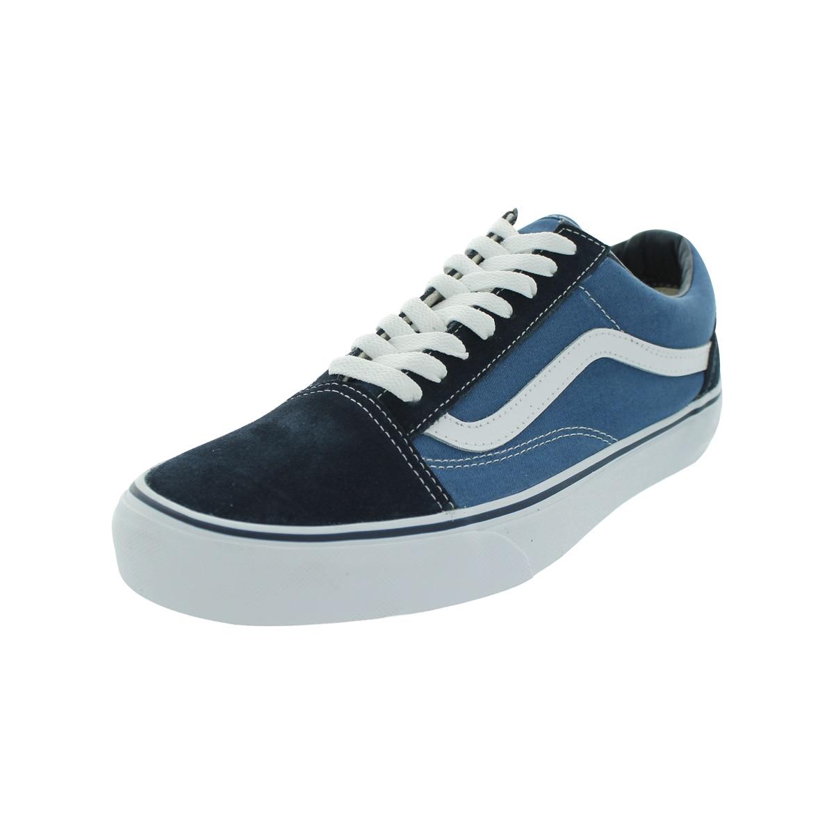 Vans Old Skool Skate Shoes (Navy) (9.5/8), Men's, Blue (c...