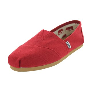 Toms Classics Casual Shoes (Red Canvas)