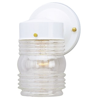 Westinghouse 6687800 White Jelly Jar Design Light Fixture