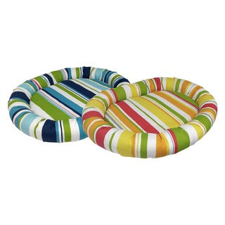 Baja Stripe Bolster Pet Bed (More options available)