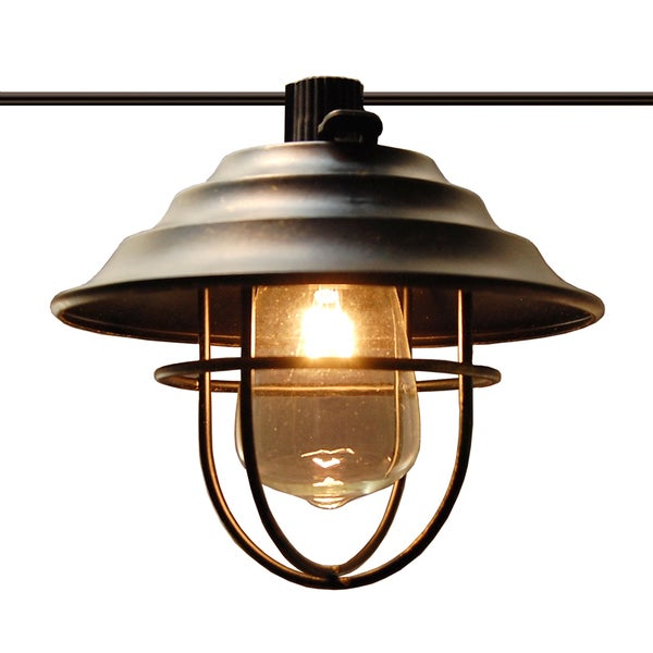 Shop Metal Cafe Bronze Electric String Lights With 10