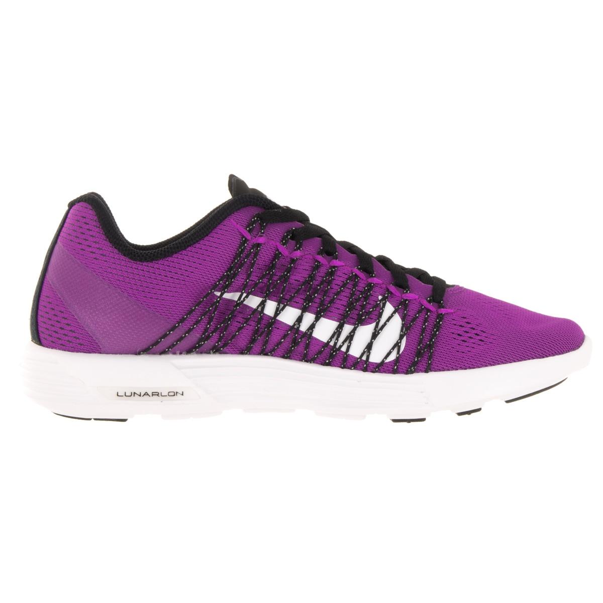 55e05e413123 Shop Nike Women s Lunaracer+ 3 Hyper Violet White Black Running Shoe - Free  Shipping Today - Overstock - 12328282