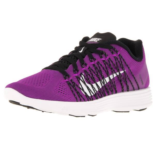 6d62f15a79fd Shop Nike Women s Lunaracer+ 3 Hyper Violet White Black Running Shoe ...