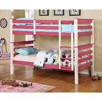 Furniture of America Piers I Two-tone Pink/White Bunk Bed