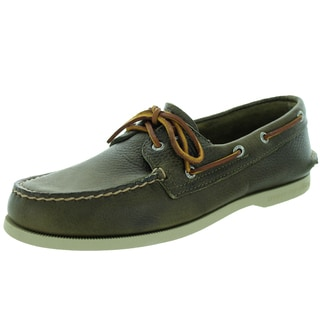 Sperry Top-Sider Men's Authentic Original 2-Eye Tumbled Olive Boat Shoe