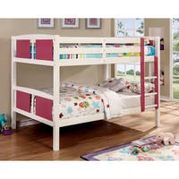 Furniture of America Piers III Two-tone Pink/White Bunk Bed