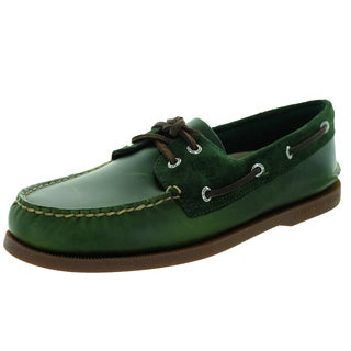 Sperry Top-Sider Men's Authentic Original 2-Eye Cyclone Olive Boat Shoe