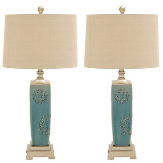 Urban Designs Victoria Ceramic Table Lamp (Set of 2)
