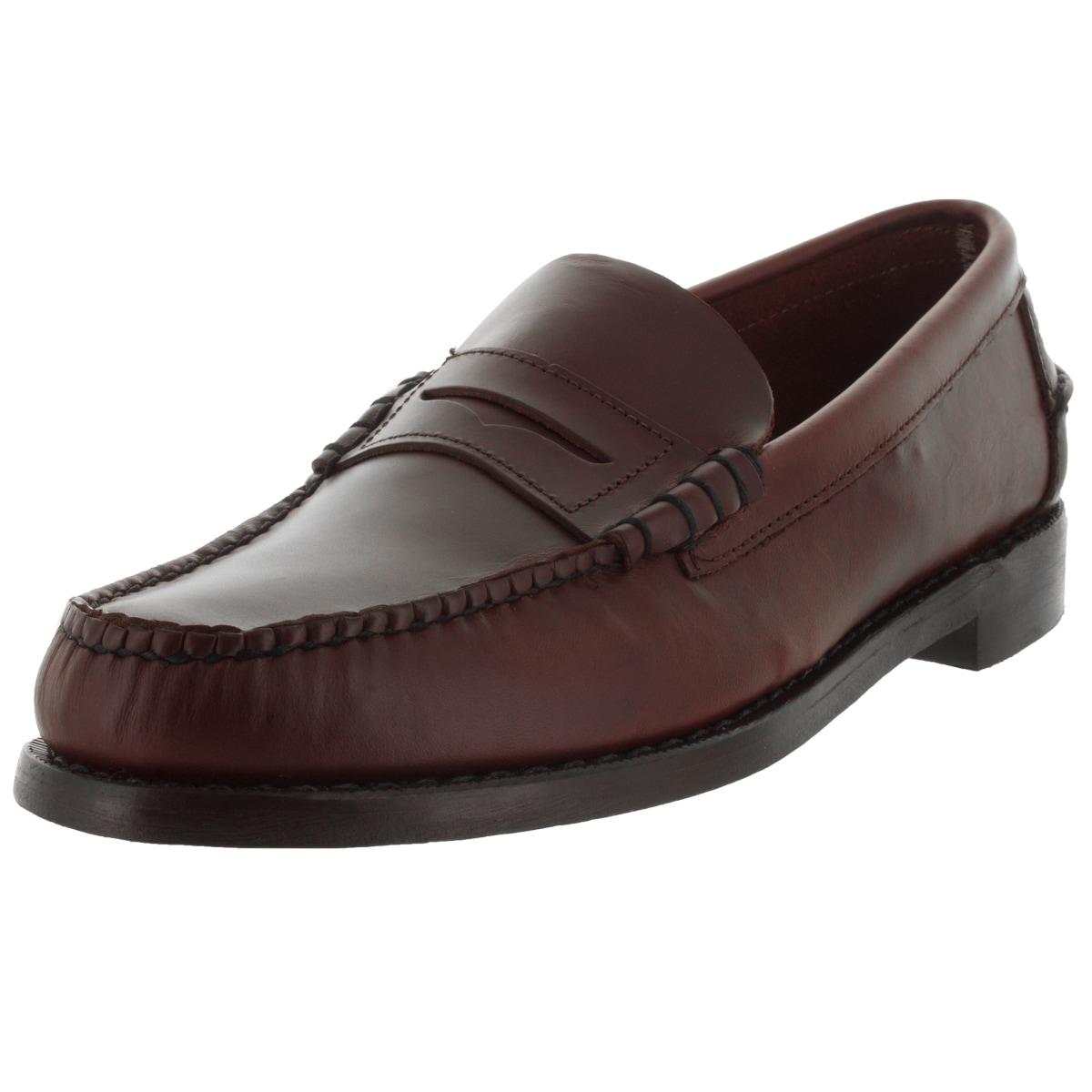 Sebago Men's Classic E Brown Oiled Waxy Loafers & Slip-On...