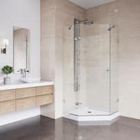 VIGO Verona Frameless Neo-Angle Shower Enclosure With Low-Profile Base