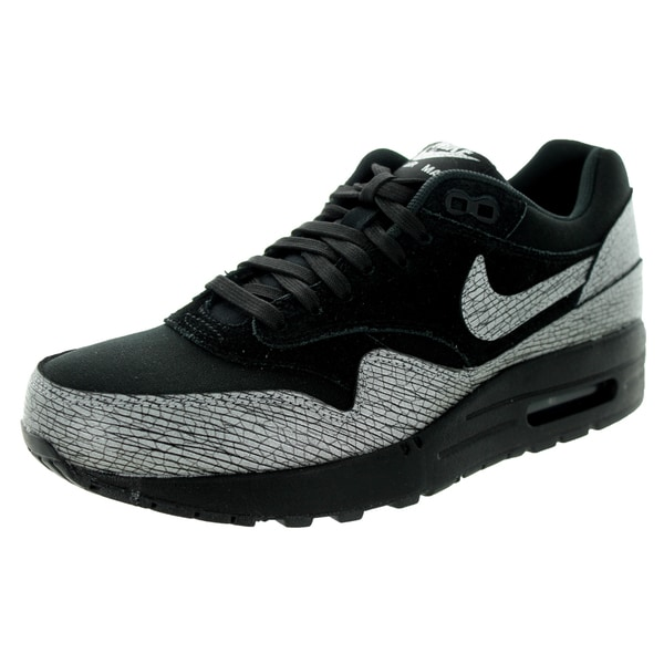 83a421128c8 Shop Nike Women s Air Max 1 Prm Black  Hematite Black Running Shoe ...