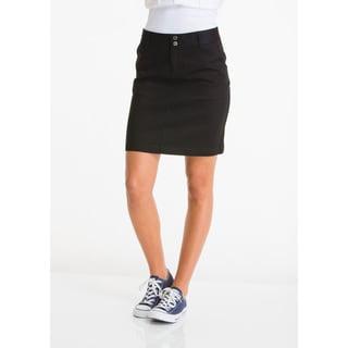 Lee Juniors Girl's Black Cotton-blend Classic Skirt