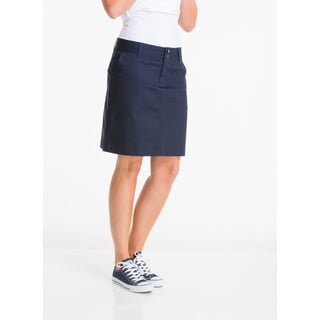 Lee Juniors' Navy Cotton/Polyester Classic Skirt