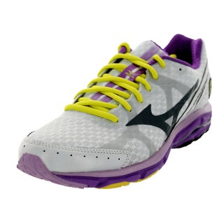 Mizuno Women's Wave Rider 17 White/Grey/Purple Running Shoe