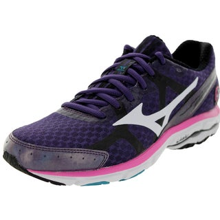 Mizuno Women's Wave Rider 17 Purple/White/Pink Running Shoe